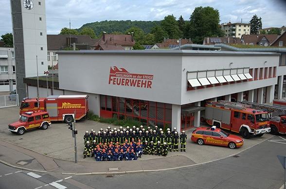 Feuerwehr Geislingen. Foto: Schütte