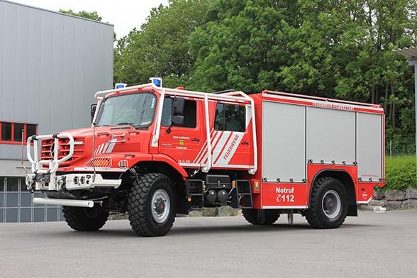Ein Zetros für den Wald. Foto: Feuerwehr Filderstadt