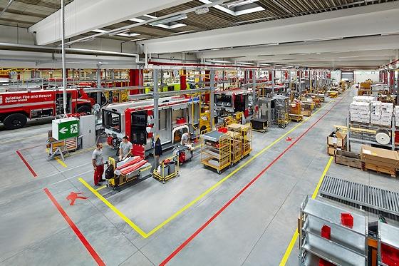 Innenansicht in das Rosenbauer-Werk 2. Foto: Rosenbauer