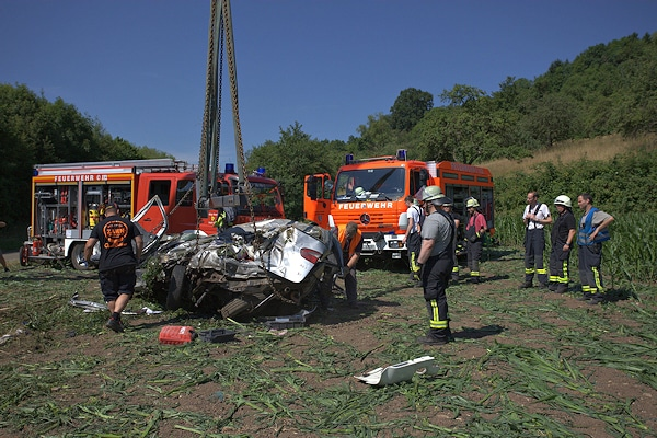 Tödlicher Unfall auf der B 29 bei Lorch. Foto: 7aktuell.de/Herlinger