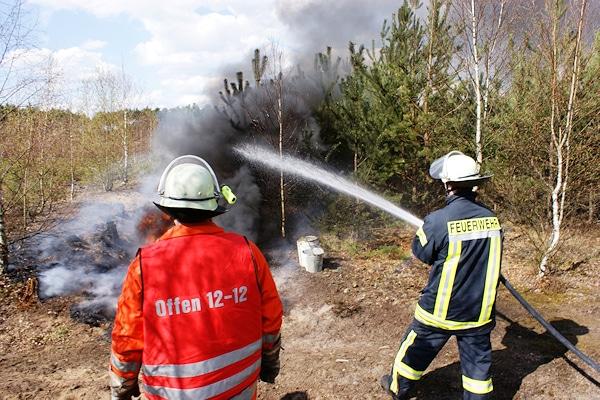 Aktuell besteht eine hohe Waldbrandgefahr. Foto: Rebmann/Feuerwehr