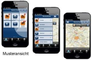 BBK-App_Muster. Symbolfoto: BBK