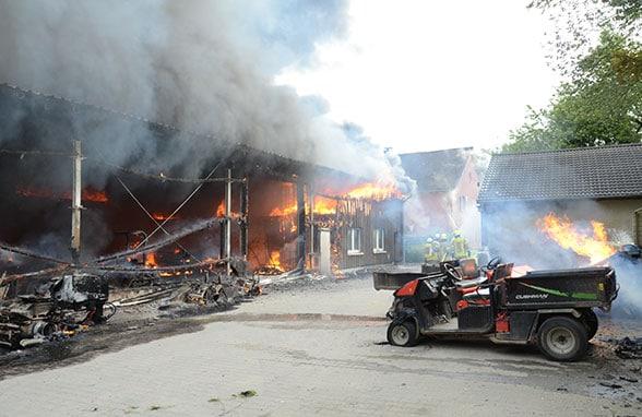 Brand Golfclub Ratingen. Foto: Feuerwehr Ratingen