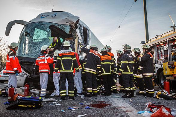 Busunfall Hamburg. Foto: Arning