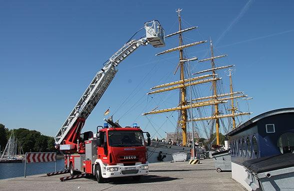 Feuerwehr Marine Wilhelmshaven. Foto: Bauer