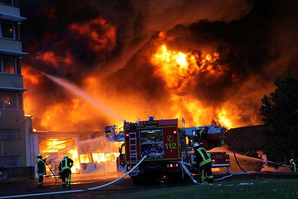 Großbrand Alsfeld. Foto: Weitzel