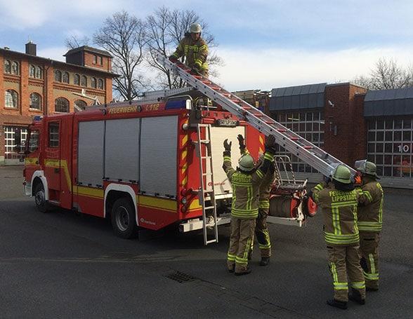 Schiebleiter Feuerwehr. Foto: Christian Meyer