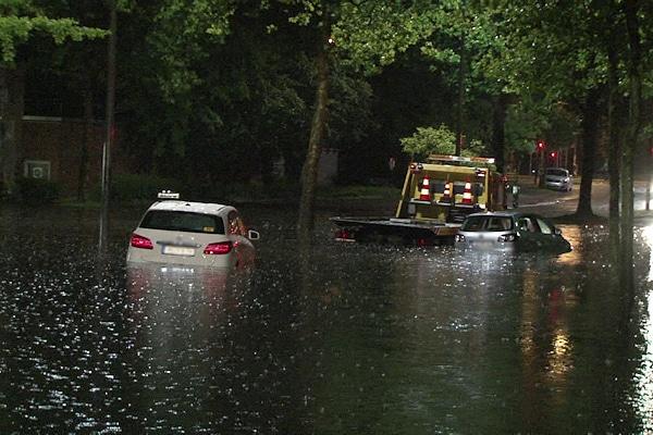 Unwetter in Münster am 28. Juli 2014. Foto: Nonstopnews