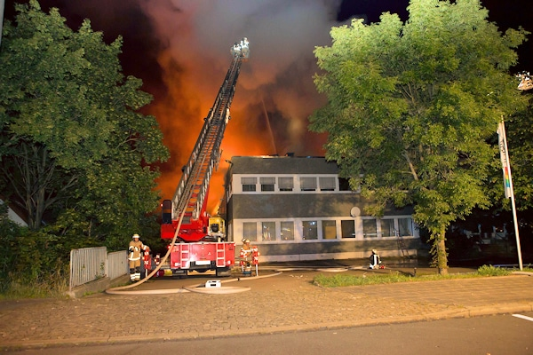 Großbrand in Fürth. Foto: News 5