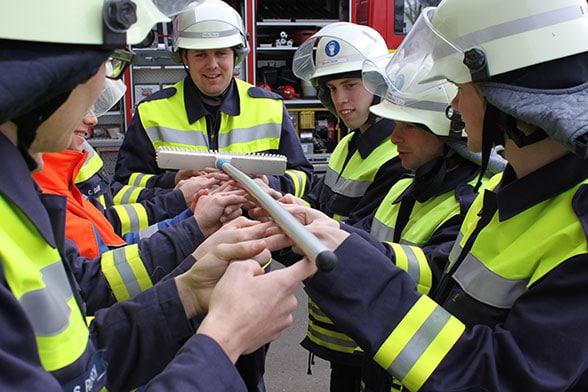 Kommunikation Feuerwehr. Foto: Dr. Patzelt