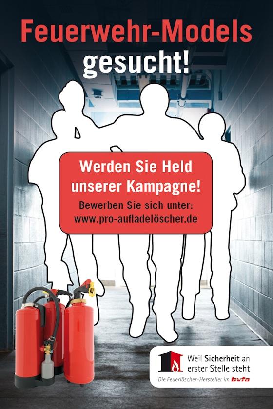 Mit diesem Werbeplakat werden die Feuerwehr-Models vom bvfa gesucht. Foto: bvfa