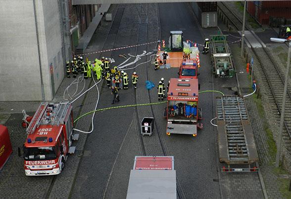 Ätzende Lösung. Foto: Feuerwehr Bremen