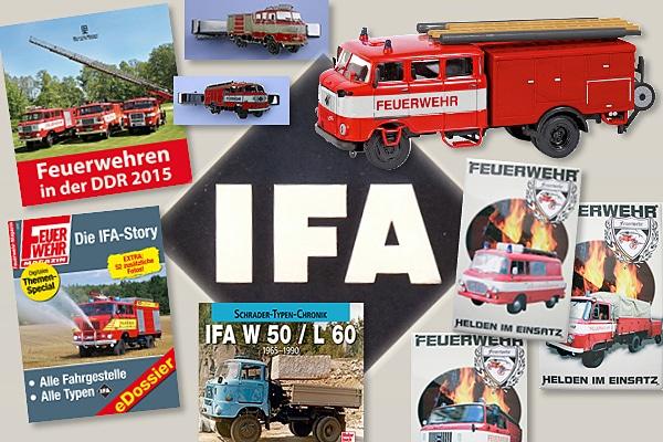 IFA W50 und Co: Die besten Fan-Artikel zu den Fahrzeugen der DDR Feuerwehr gibt es jetzt in einer eigenen Rubrik im Feuerwehr-Magazin-Shop.