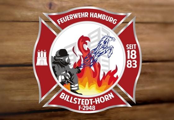 Referenz: Auch das Logo der FF Hamburg Billstedt-Horn hat Merle Müller entworfen. Foto: privat