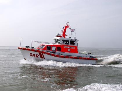 """Das Seenotrettungsboot """"Wilma Sikorski"""" in Fahrt. Symbolfoto: DGzRS"""