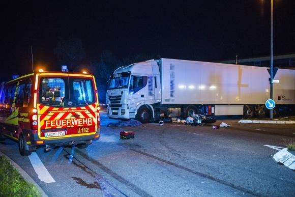 Tödlicher Motorradunfall in Markgröningen. Foto: www.7aktuell.de/Karsten Schmalz