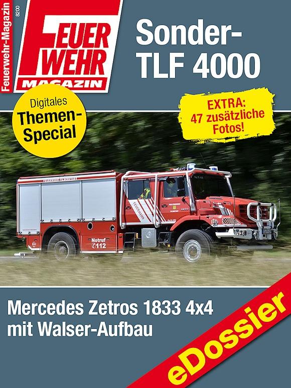 eDossier: Sonder-TLF 4000 auf Mercedes Zetros für die Feuerwehr Filderstadt.