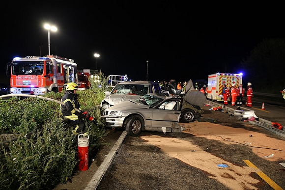 Tödlicher Unfall auf der A 3 bei Bad Camberg. Foto: wiesbaden112.de