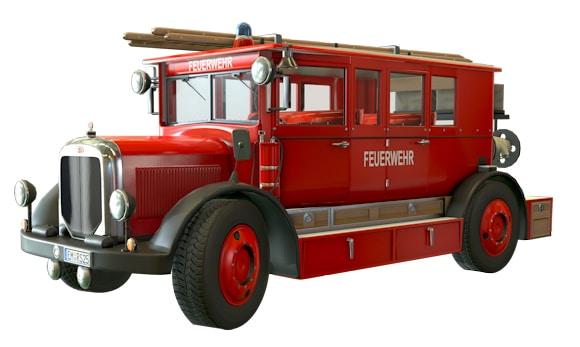 """Dieses historische Feuerwehrfahrzeug ist nur in der """"Deluxe-Edition"""" von Emergency 5 enthalten. Foto: Sixteen Tons"""