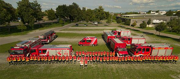 Feuerwehr-Quartett. Foto: Preuschoff
