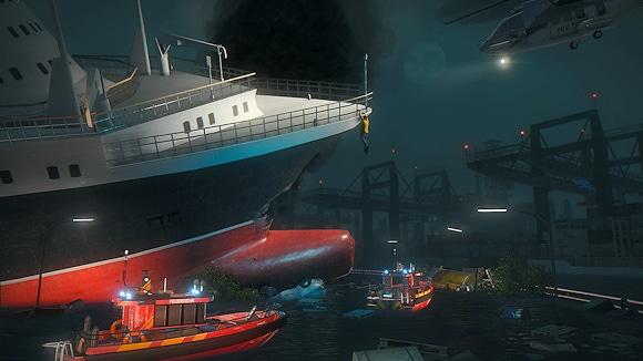 "Auch ein Schiffsunglück muss bei ""Emergency 5"" bewältigt werden. Foto: Sixteen Tons"