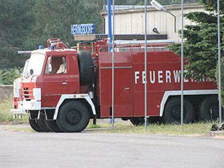 Flughafenfeuerwehr am Flughafen Heringsdorf auf Usedom. Foto: Michael Klöpper