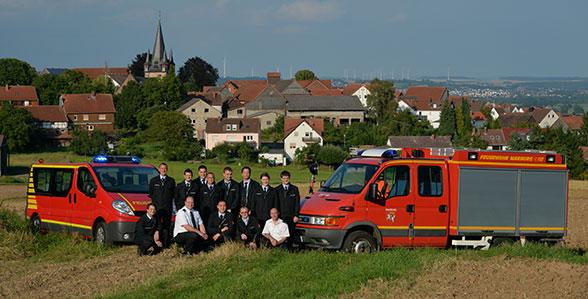 Bunter Haufen wird Feuerwehr. Foto: Rüffer