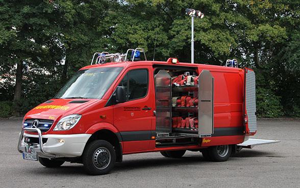 Schlauchwagen mit Extras. Foto: Bauer