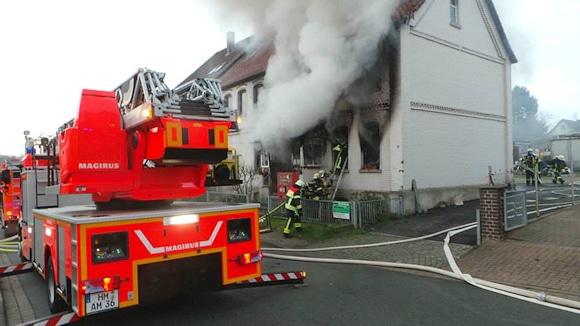 Brand in Hameln. Foto: Polizei