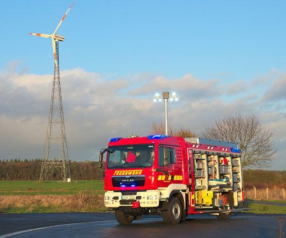 Rüstwagen der Feuerwehr Achim. Foto: Preuschoff