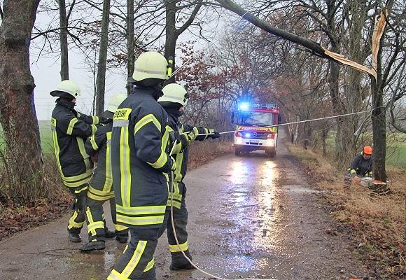 Sturmeinsatz in Geesthacht (Kreis Herzogtum Lauenburg) am 9. Januar 2015. Foto: Timo Jann