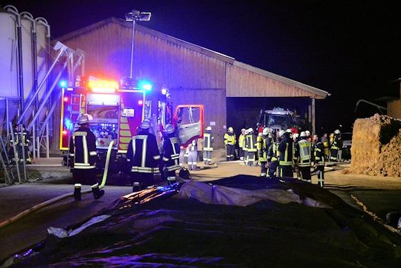 Brand in Biogasanlage in Oberwerrn. Foto: News5