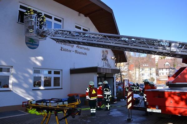 Brand bei der Feuerwehr Titisee-Neustadt. Foto: kamera24.tv