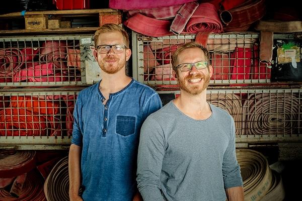 Martin und Robert Klüsener, Geschäftsführer von Feuerwear. Foto: Feuerwear