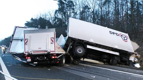 Lkw-Unfall auf A70 bei Hassfurt