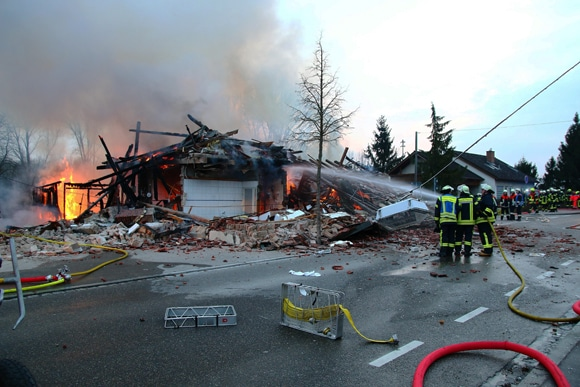 Explosion Gundelfingen 10.03.2015