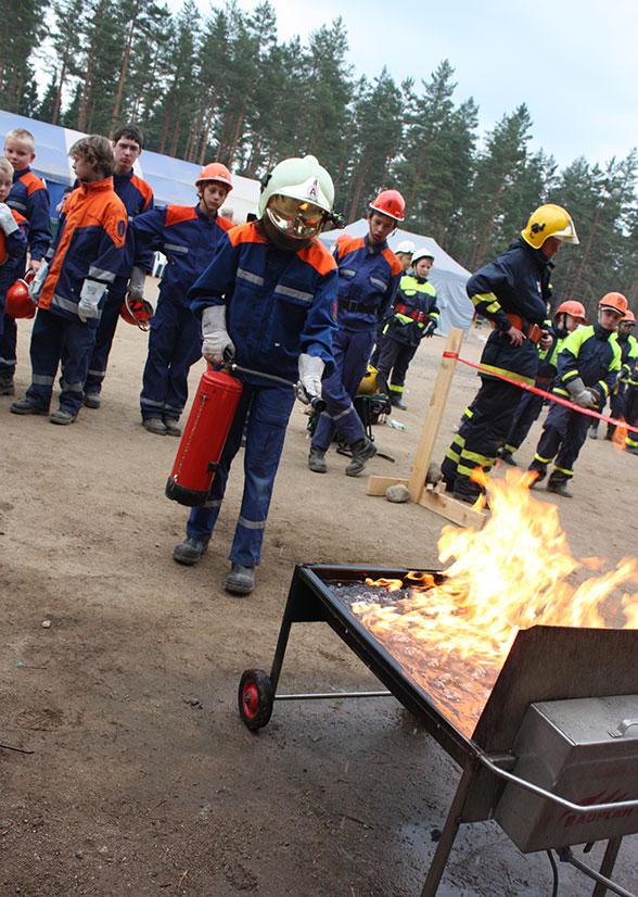 Jugendfeuerwehr-Action-Camps in Finnland. Foto: Patzelt