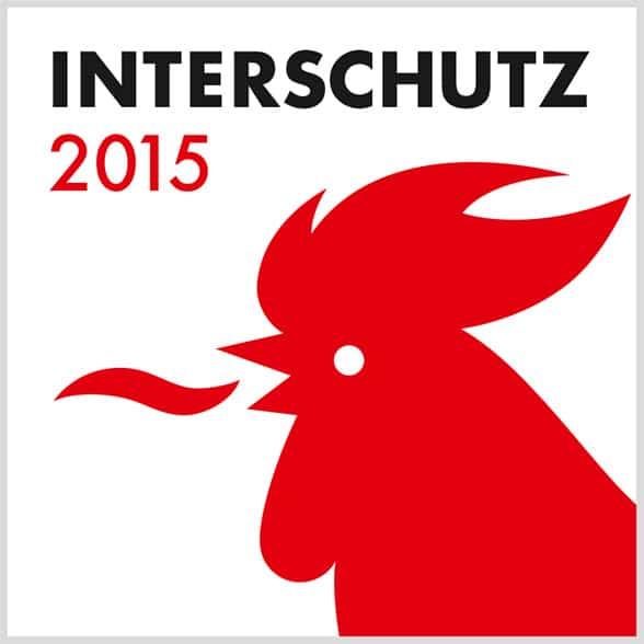 Logo der Interschutz 2015 in Hannover.