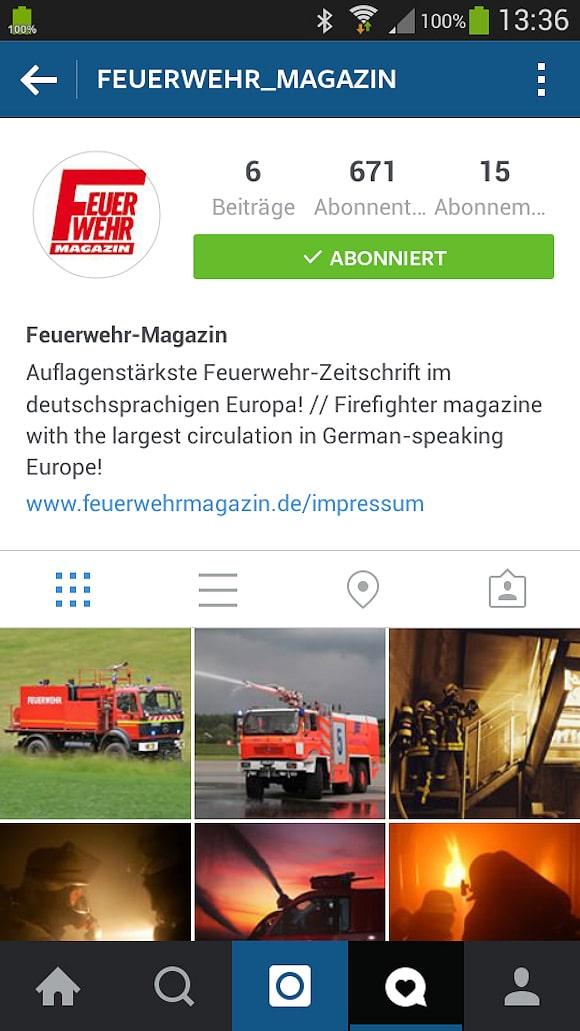 Feuerwehr-Magazin bei Instagram.