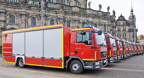 2014 konnten die Hersteller von Feuerwehrfahrzeugen - hier GW-G von Gimaex in Dresden - einen Rekordumsatz verbuchen. Symbolfoto: Gimaex