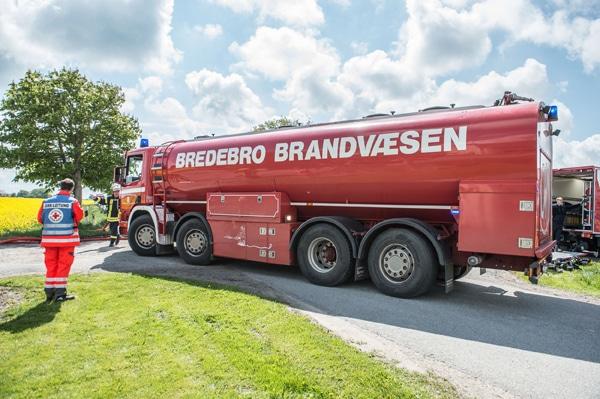 Das Tanklöschfahrzeug mit 20.000 Litern Fassungsvermögen der Feuerwehr Bredebro. Foto: Benjamin Nolte