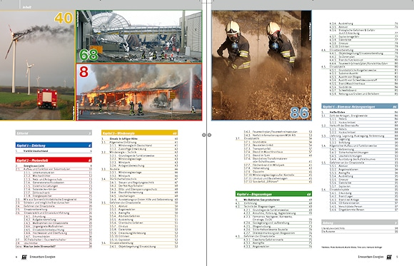 """Feuerwehr-Magazin Sonderheft """"Erneuerbare Energien"""" - Inhaltsseite."""