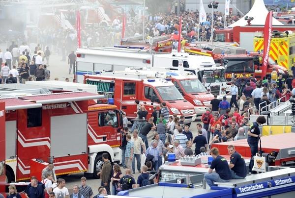 Mit der Veranstaltung werden die Hannoveraner auf die INTERSCHUTZ eingestimmt, die am Montag auf dem Messegelände beginnt und bis Samstag dauert. Foto: Deutsche Messe AG