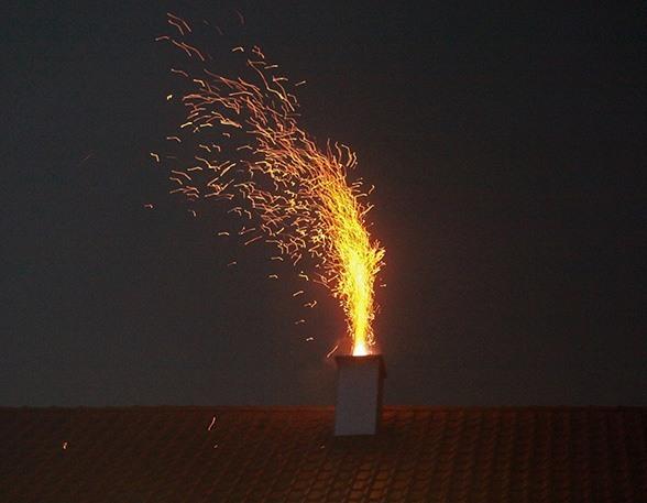 Wenn der Kamin brennt. Foto: Kollinger
