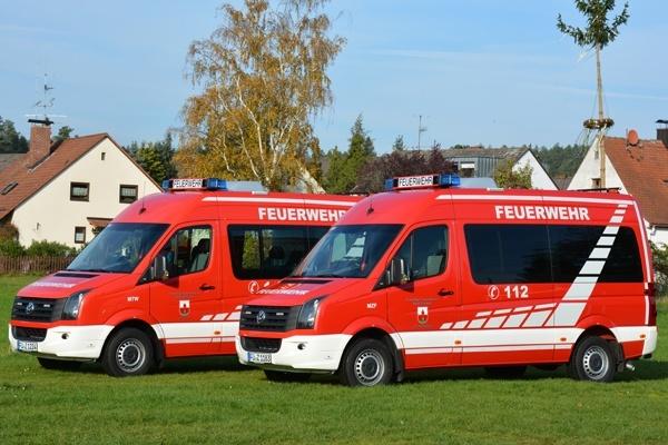 MTF (links) und MZF der Feuerwehren Lind und Weiherhof. Foto: A. Müller