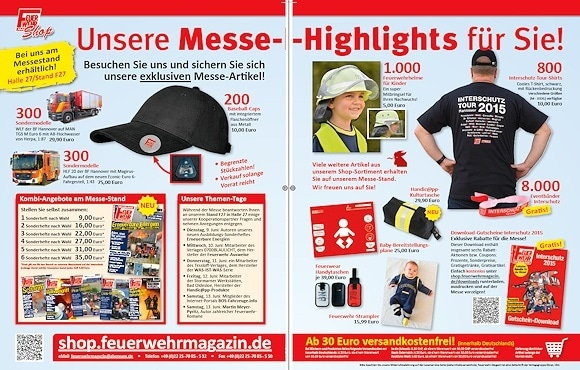 Messe-Highlights des Feuerwehr-Magazins zur Interschutz.