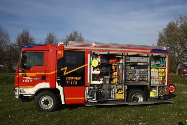 Das neue HLF 20 der FF Biblis. Foto: Feuerwehr Biblis / Ralf Becker