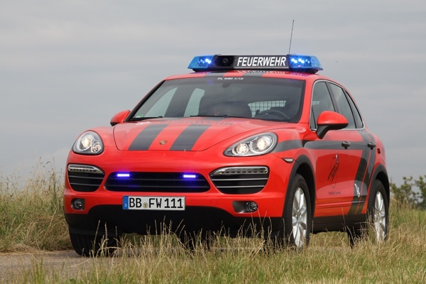 Der Porsche Cayenne  der Feuerwehr Weissach. Foto: Reich