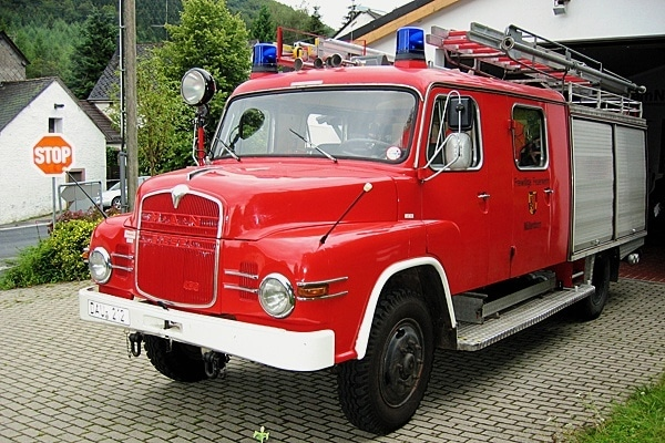 Das alte LF 16 der Feuerwehr Müllenborn. Foto: Feuerwehr Müllenborn