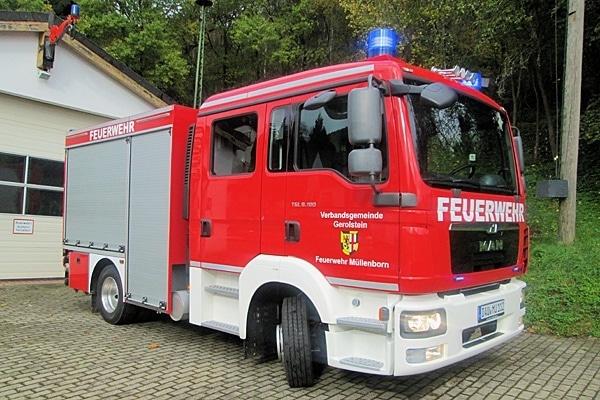 Das neue MLF der Feuerwehr Müllenborn. Foto: Feuerwehr Müllennorn